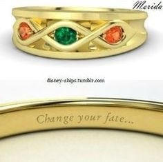 A ring by Merida Colar Disney, Disney Princess Rings, Merida Disney, Best Engagement Rings, Disney Jewelry, Needful Things, Disney Pictures, You Changed, Gemstone Rings