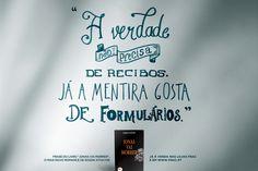 """Frase retirada do livro """"Jonas Vai Morrer"""", de Edson Athayde"""