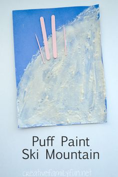 Make your own puff paint to create a simple ski scene. We created this project to help us learn about the tiny country of Andorra.