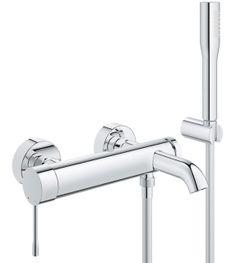 Grohe Essence Single Lever Bath Shower Mixer With Shower Set 33628001 Shower Bath Shower Set Bath Shower Mixer