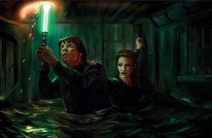 Luke Skywalker and Mara Jade in Vision of the Future - Star Wars Mara Jade, Starwars, Darth Revan, Thrawn Trilogy, Timothy Zahn, Saga, War Novels, Star Wars Personajes, Han And Leia