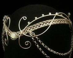 Gold Celtic Handfasting wedding elven tiara by ElvenstarDesign