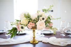 Whimsical and Feminine Wedding Inspiration | Photography: Laylee Emadi Photography | Planner: Katie Frost Weddings | Venue: The Rosemary Barn #bridesofnorthtx #wedding #centerpiece