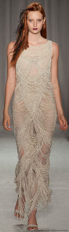 Marchesa  S/S 2014 - A little sheer but . . I would figure out something were someone to gift this gem to me . . .