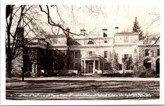 RPPC Franklin D. Roosevelt Home Nat'l Historical Site, Hyde Park, NY postcard