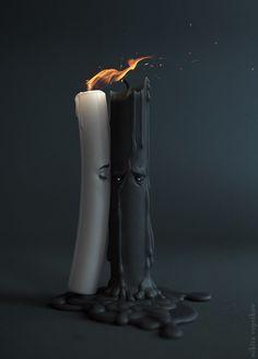Candles, Nikita Veprikov on ArtStation at https://www.artstation.com/artwork/candles-8651934e-1956-481e-9155-b705f38010a5