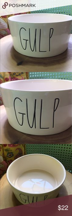 Rae Dunn Gulp Bowl Big Letter New Rae Dunn Gulp Bowl Great for pets, people Wine bottle holder   Rae Dunn Clay  Gifts  Farmhouse chic Rae Dunn Other