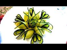 4 LIFE HACKS HOW TO MAKE CUCUMBER FLOWER ROSE - CUCUMBER DESIGN GARNISH & VEGETABLE CARVING - YouTube