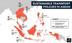 Sustainable transport policies in ASEAN Sustainable Transport, Public Transport, Laos, Sustainability, Singapore, Marketing, Sustainable Development