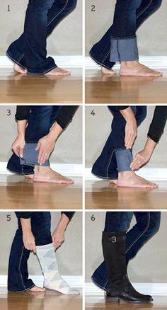 Modetipps Jeans in die Stiefeln
