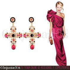 Pendientes Krysse fucsias ★ 14'95 € en https://www.conjuntados.com/es/pendientes-dorados-krysse-con-cristales-fucsias.html ★ #pendientes #earrings #conjuntados #conjuntada #joyitas #lowcost #jewelry #bisutería #bijoux #accesorios #complementos #moda #eventos #bodas #invitadaperfecta #perfectguest #party #fashion #fashionadicct #fashionblogger #blogger #picoftheday #outfit #estilo #style #streetstyle #GustosParaTodas #ParaTodosLosGustos