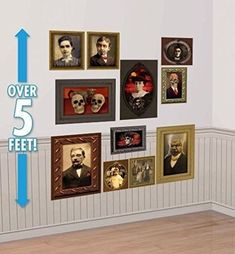 Lunarland GOTHIC PORTRAITS Haunted Pictures Halloween Mansion Party Decorations Wall Props *** Find out more about the great product at the image link.