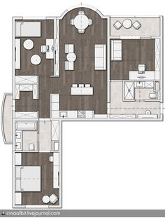 Apartment Plans, Plane, Architecture Design, House Plans, Floor Plans, Layout, Flooring, How To Plan, Drawings