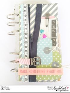 Mini Album mit Websters Pages Planner Tab pages