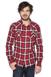 Camisa<BR>Vermelho, Preto e Branco