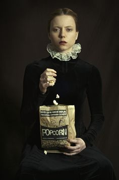 <p>Argentinian painter Romina Ressia took the classic renaissance portrait style and added a little modern twist to it, resulting in some fun visual interrogations!   A classical influence can be