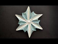 Snowflake Origami, Origami Ball, Christmas Origami, Origami Flowers, Origami Hearts, Christmas Gifts, Dollar Bill Origami, Money Origami, Paper Crafts Origami