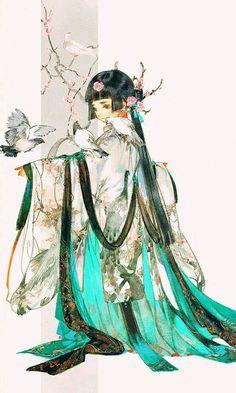 loli Changge (Long Song), by Ibuki Satsuki M Anime, Anime Art Girl, Manga Art, Character Illustration, Illustration Art, Character Design Challenge, Dibujos Tumblr A Color, China Art, Japanese Art