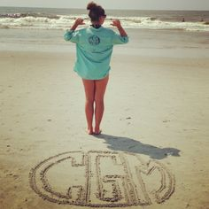 My own creation! Monogrammed PFG with another one on the beach