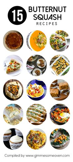 15 Butternut Squash Recipes | gimmesomeoven.com #fall #ideas