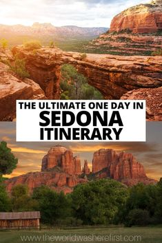 A guide for how to spend one day in Sedona as a day trip from Phoenix or Scottsdale. Including options for 2 or 3 days in Sedona. Sedona Shopping, Scottsdale Shopping, Day Trips In Ohio, One Day Trip, Sedona Arizona, Arizona Travel, Arizona Trip, Sedona Hikes, Visit Sedona
