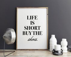 New to StyleScoutDesign on Etsy: Shoes Fashion Print Fashion quote style poster typographic poster (5.44 USD)