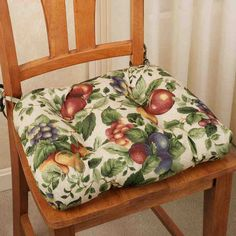 Country Curtains Kitchen Chair Pads - The kitchen is one of the most intimate places in the entire house. It's the spot wher Kitchen Chair Pads, Kitchen Chair Cushions, Dining Chair Pads, Kitchen Table Chairs, Dining Room Chairs, Seat Cushions, Fruit Kitchen Decor, Kitchen Decor Themes, Home Furniture