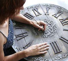 S wall photos diy and crafts часы, деревянные часы, Clock Art, Diy Clock, Wood Crafts, Diy And Crafts, Arts And Crafts, Glue Art, Plaster Art, Free To Use Images, Decoupage Art