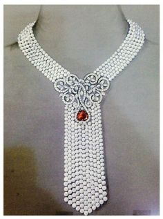Pearls with clip illustration Pearl And Diamond Necklace, Pearl Pendant Necklace, Pearl Jewelry, Bridal Jewelry, Jewelry Art, Beaded Jewelry, Jewelery, Fine Jewelry, Jewelry Design