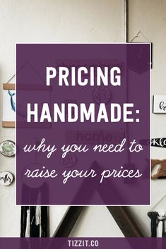 If youre a handmade shop owner wondering if your pricing strategy is just right Etsy Business, Craft Business, Creative Business, Business Tips, Business Money, Business Branding, Business Design, Online Business, Diy Gifts To Sell