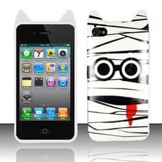 Apple iPhone 4 iPhone 4S Silicone Cover Case - TPU Black/ White Zombie Cartoon