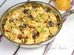 Chicken with Herbed CousCous - The Midnight Baker