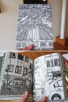 "drawing the city - see ""illustrations"" on elec. lines - subways - traffic signs etc."