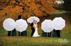Rainy Wedding Day Group Photograph