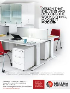 A workplace has to be enlivened and match with the right colors to increase productivity. How many of you work in a #modern #environment ?