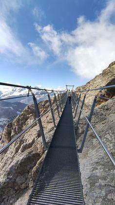 Titlis Cliff Walk. Switzerland Suspension Bridge, Outdoor Furniture, Outdoor Decor, Cliff, Hammock, Switzerland, Europe, Mountains, Hammocks