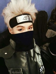 BTS Suga as Kakashi. I dont think u understand how much in crying right at this moment ; i can't i ♡♡♥♥♡♡♥♥ kakashi so so sooooo much and then i luv suga to is this even real life am i dreaming! Bts Suga, Min Yoongi Bts, Bts Bangtan Boy, Namjoon, Taehyung, Seokjin, Foto Bts, Bts Photo, Daegu