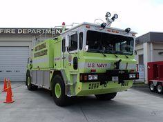 Crash-rescue truck, Naval Air Facility Atsugi...
