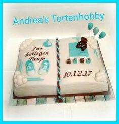 Baptism book cake, Tauftorte Buch