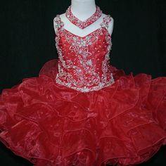 Girls Glitz Pageant Dresses-Short Skirt