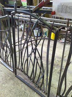 Forged steel reed gate, via Flickr.