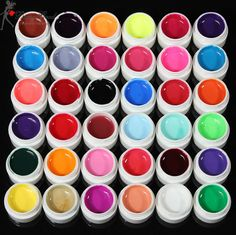 FREE SHIPPING! 36 Colors Pure Colors UV Gel For Nail Extension SKU039935 from Shopiton