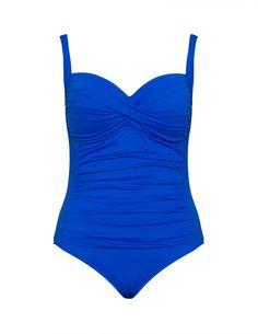 La Blanca - Drapierter Badeanzug  in Blau
