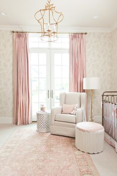 Beautiful baby pink nursery