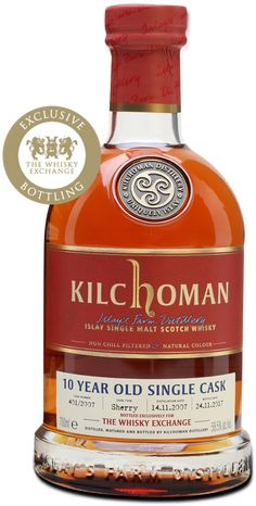 Kilchoman 2007 - 10 Year Old - Sherry Cask - TWE Exclusive : The Whisky Exchange Whiskey Brands, Malt Whisky, Scotch Whiskey, Alcohol Recipes, 10 Year Old, Cigars, Liquor, Food And Drink, Drinks