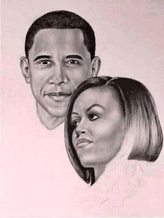 Our most wonderful President Barack and First Lady Michelle Obama Michelle Obama, Black Presidents, American Presidents, American Soldiers, Caricatures, Durham, Presidente Obama, Barack Obama Family, First Black President