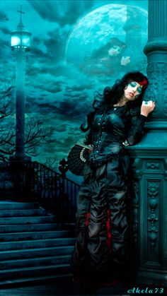everyday a different color, beautiful gifs, soft goth, nature. images that I like and attract my attention. I hope you'll find images here for your taste too. Gif Pictures, Moving Pictures, Dark Fantasy, Fantasy Art, Gothic Vampire, Gifs, Goth Women, Shades Of Teal, Good Night Moon