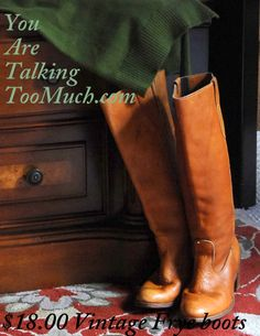 how to get vintage Frye boots   how to clean and soften leather boots