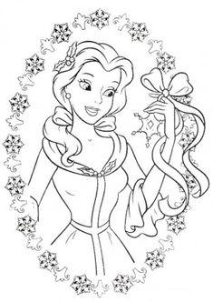 รูปภาพการ์ตูนระบายสี-เจ้าหญิง Bell