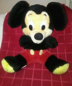 Vintage Mickey Mouse Disney Baby Plush Stuffed Animal Toy